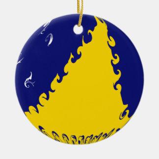 Flagge Tokelaus Ganrly Rundes Keramik Ornament