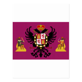 Flagge Toledos (Spanien) Postkarte