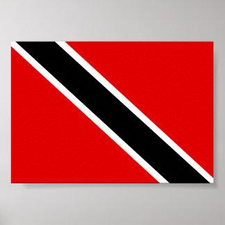 Flagge Trinidads Tobago Poster