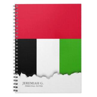 Flagge UAE Arabische Emirate Spiral Notizblock