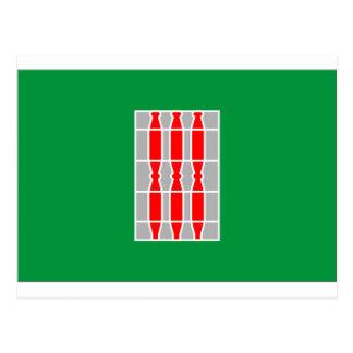 Flagge Umbriens (Italien) Postkarte