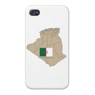 Flagge und Karte von Algerien iPhone 4/4S Case