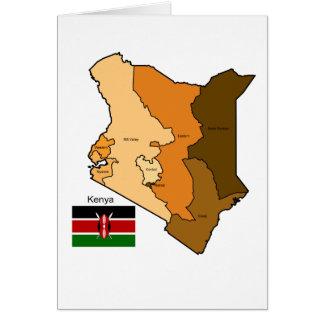 Flagge und Karte von Kenia