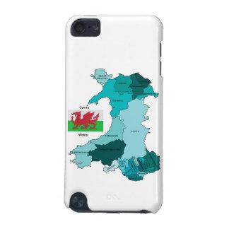 Flagge und Karte von Wales iPod Touch 5G Hülle