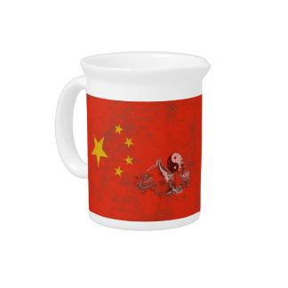Flagge und Symbole der China ID158 Getränke Pitcher