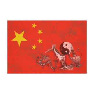 Flagge und Symbole der China ID158 Leinwanddruck