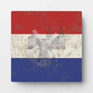 Flagge und Symbole der Niederlande ID151 Fotoplatte