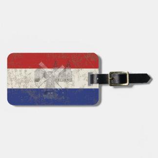 Flagge und Symbole der Niederlande ID151 Gepäckanhänger