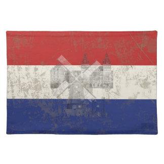 Flagge und Symbole der Niederlande ID151 Stofftischset