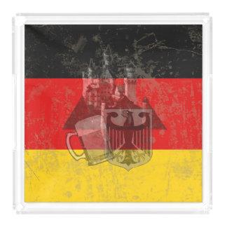 Flagge und Symbole von Deutschland ID152 Acryl Tablett