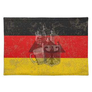 Flagge und Symbole von Deutschland ID152 Stofftischset