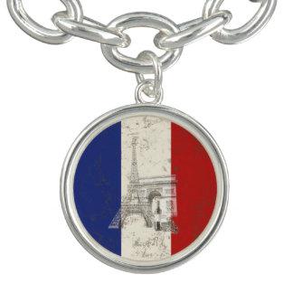 Flagge und Symbole von Frankreich ID156 Armband