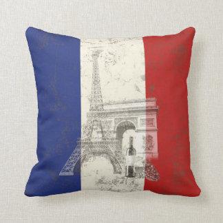 Flagge und Symbole von Frankreich ID156 Kissen