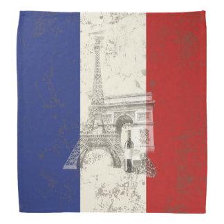 Flagge und Symbole von Frankreich ID156 Kopftuch