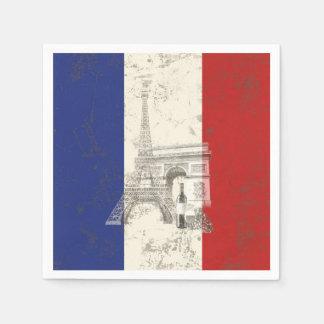 Flagge und Symbole von Frankreich ID156 Papierserviette