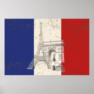 Flagge und Symbole von Frankreich ID156 Poster