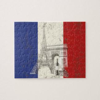 Flagge und Symbole von Frankreich ID156 Puzzle