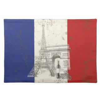 Flagge und Symbole von Frankreich ID156 Stofftischset