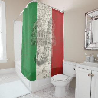 Flagge und Symbole von Italien ID157 Duschvorhang