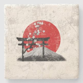 Flagge und Symbole von Japan ID153 Steinuntersetzer