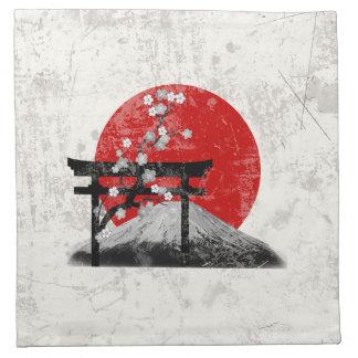 Flagge und Symbole von Japan ID153 Stoffserviette