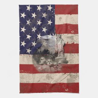 Flagge und Symbole von Vereinigten Staaten Handtuch