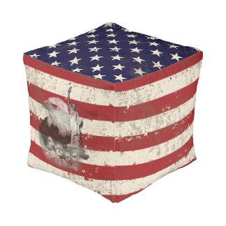 Flagge und Symbole von Vereinigten Staaten ID155 Kubus Sitzpuff