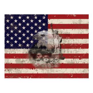 Flagge und Symbole von Vereinigten Staaten ID155 Postkarte
