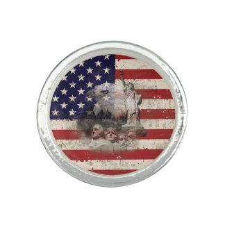 Flagge und Symbole von Vereinigten Staaten ID155 Ring
