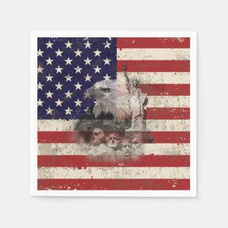 Flagge und Symbole von Vereinigten Staaten ID155 Serviette