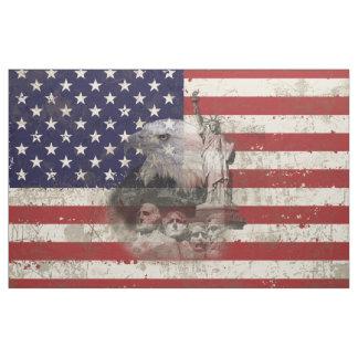 Flagge und Symbole von Vereinigten Staaten ID155 Stoff