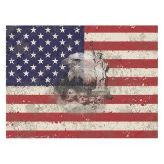 Flagge und Symbole von Vereinigten Staaten ID155 Tischdecke