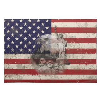 Flagge und Symbole von Vereinigten Staaten ID155 Tischset