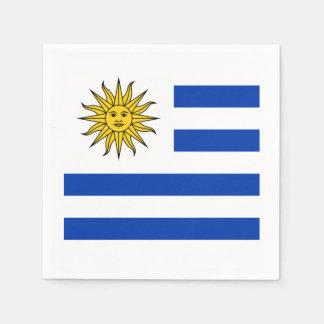 Flagge: Uruguay Papierservietten