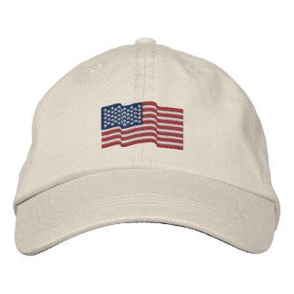 Flagge USA Amerika spielt 'gestickte Kappe n Bestickte Baseballkappe
