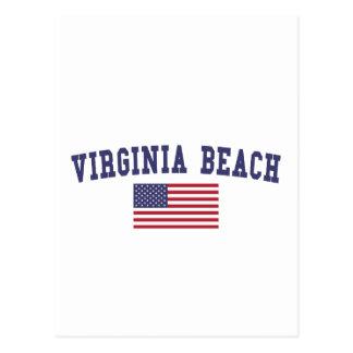Flagge Virginia Beach US Postkarte