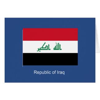 Flagge vom Irak Karte