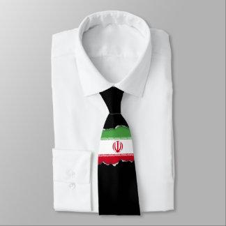 Flagge vom Iran Krawatte