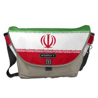 Flagge vom Iran Kuriertasche