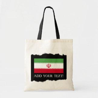 Flagge vom Iran Tragetasche