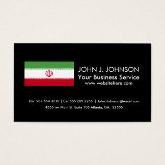 Flagge vom Iran Visitenkarte