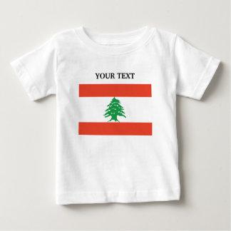 Flagge vom Libanon Baby T-shirt