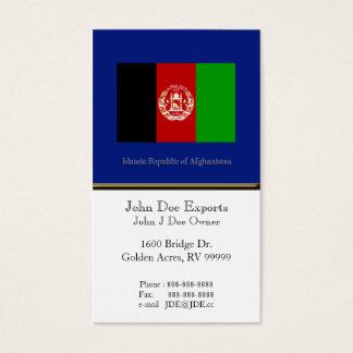 Flagge von Afghanistan Visitenkarten