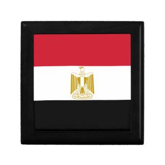 Flagge von Ägypten - علممصر - ägyptische Flagge Schmuckschachtel