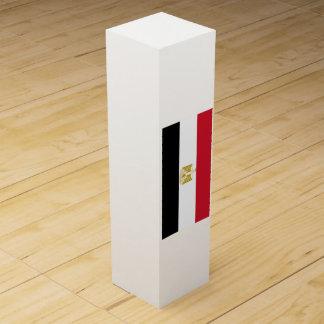 Flagge von Ägypten Wein-Geschenkverpackung