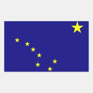 Flagge von Alaska Rechteckige Sticker