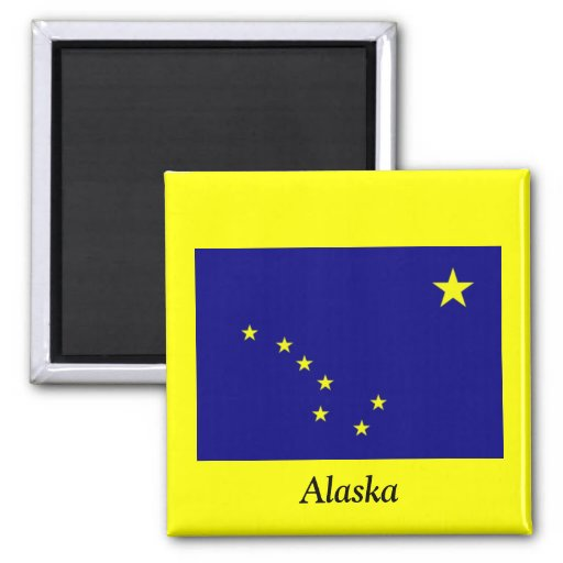 Flagge von Alaska Kühlschrankmagnete
