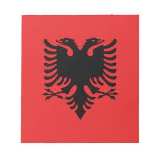 Flagge von Albanien - Flamuri I Shqipërisë Notizblock