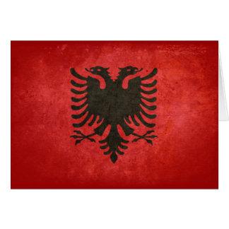 Flagge von Albanien Mitteilungskarte