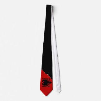 Flagge von Albanien Krawatte
